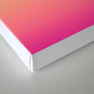 Ombre gradient digital illustration pink, blue, orange colors Canvas Print