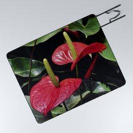 Anthurium Couple Picnic Blanket