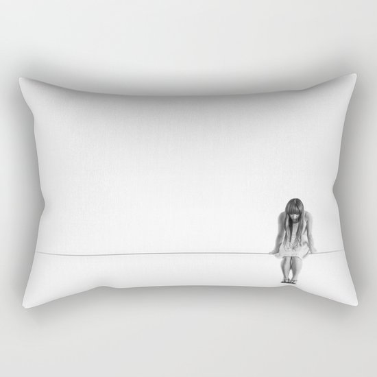 on the wire Rectangular Pillow