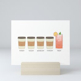 Happy friday! Mini Art Print