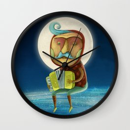 The accordion player Wall Clock