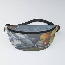 Paul Cézanne - Compotier, assiette et pommes (Still Life with Apples in a Bowl) Fanny Pack