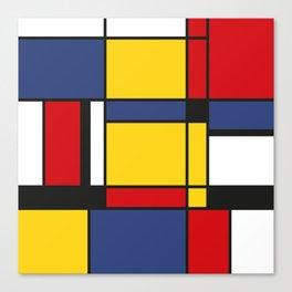 Downtown, Tribute to Mondrian Canvas Print