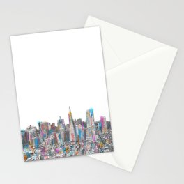 San Francisco Coit view Stationery Cards