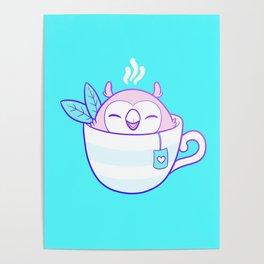Owl Tea Poster