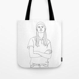 One line fashion illustration - Dani Tote Bag