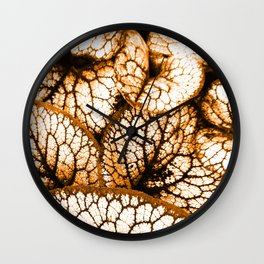 Siberian Bugloss - Orange Wall Clock