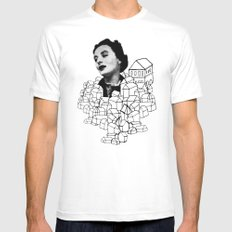 Homes On Parade MEDIUM White Mens Fitted Tee