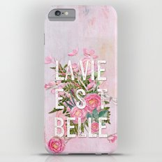 LAVIE EST BELLE - Watercolor - Pink flowers roses - rose flower Slim Case iPhone 6s Plus