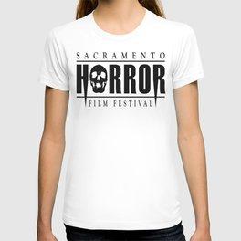 Sacramento Horror Film Festival Black Logo T-shirt