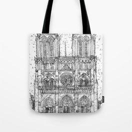 NOTRE-DAME de PARIS - pencil portrait .1 Tote Bag