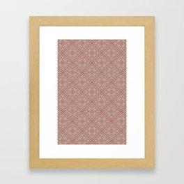 Brick Geometric Diamond Pattern Framed Art Print