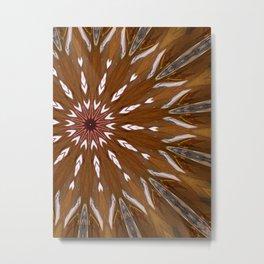 Big Brown Flower Metal Print