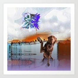Dog Vision. Art Print