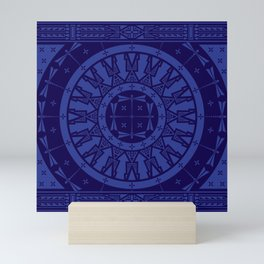 Ancestors (Blue) Mini Art Print