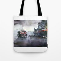 istanbul Tote Bags featuring ISTANBUL by Baris erdem