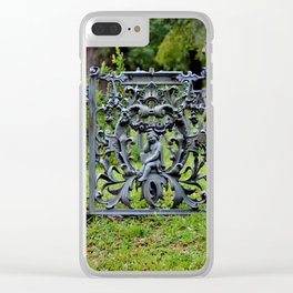Lovely Cemetery Gate Clear iPhone Case
