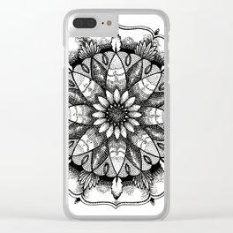 Flower Mandala Clear iPhone Case