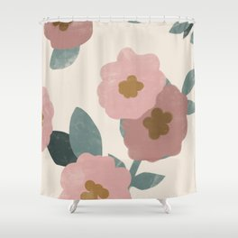 Simple Flowers Shower Curtain