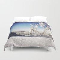 ski Duvet Covers featuring Ski  by David Nadeau
