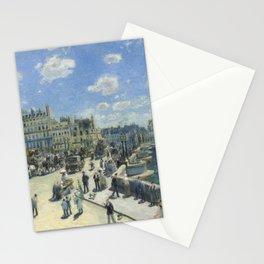 Auguste Renoir Pont Neuf, Paris 1872 Painting Stationery Cards