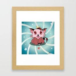 Anime Kitty - Hime Framed Art Print