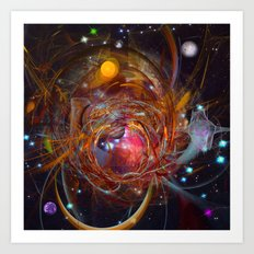 Solar Chaos Art Print