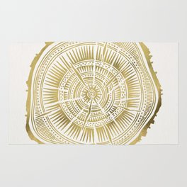 Paper Birch – Gold Tree Rings Rug