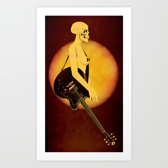 Skull Of Rock Art Print