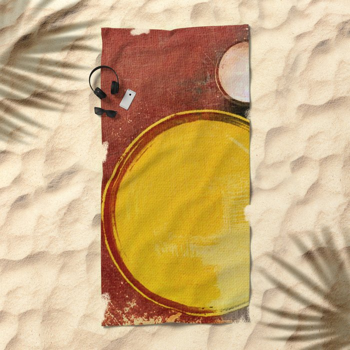 Kuaray and Jacy (Sun and Moon) Beach Towel