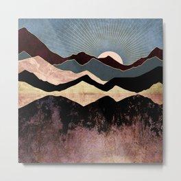 Crimson Peaks Metal Print