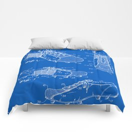 Soccer Cleat Patent - Blueprint Comforters