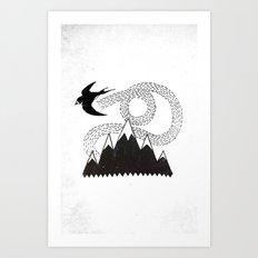 Mountain Swallow Art Print