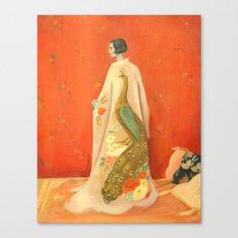 Peacock Kimono Canvas Print