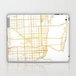 MIAMI FLORIDA CITY STREET MAP ART Laptop & iPad Skin