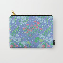 Midcentury Meadow in Periwinkle Carry-All Pouch