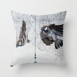 Caught in a net - detail Throw Pillow