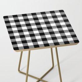 Buffalo Plaid - Black and White Side Table