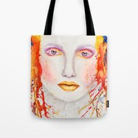 splatter Tote Bags featuring Splatter by Funkygirl4ever95