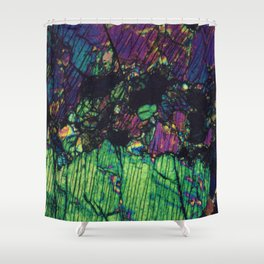 Pyroxene Crystals Shower Curtain