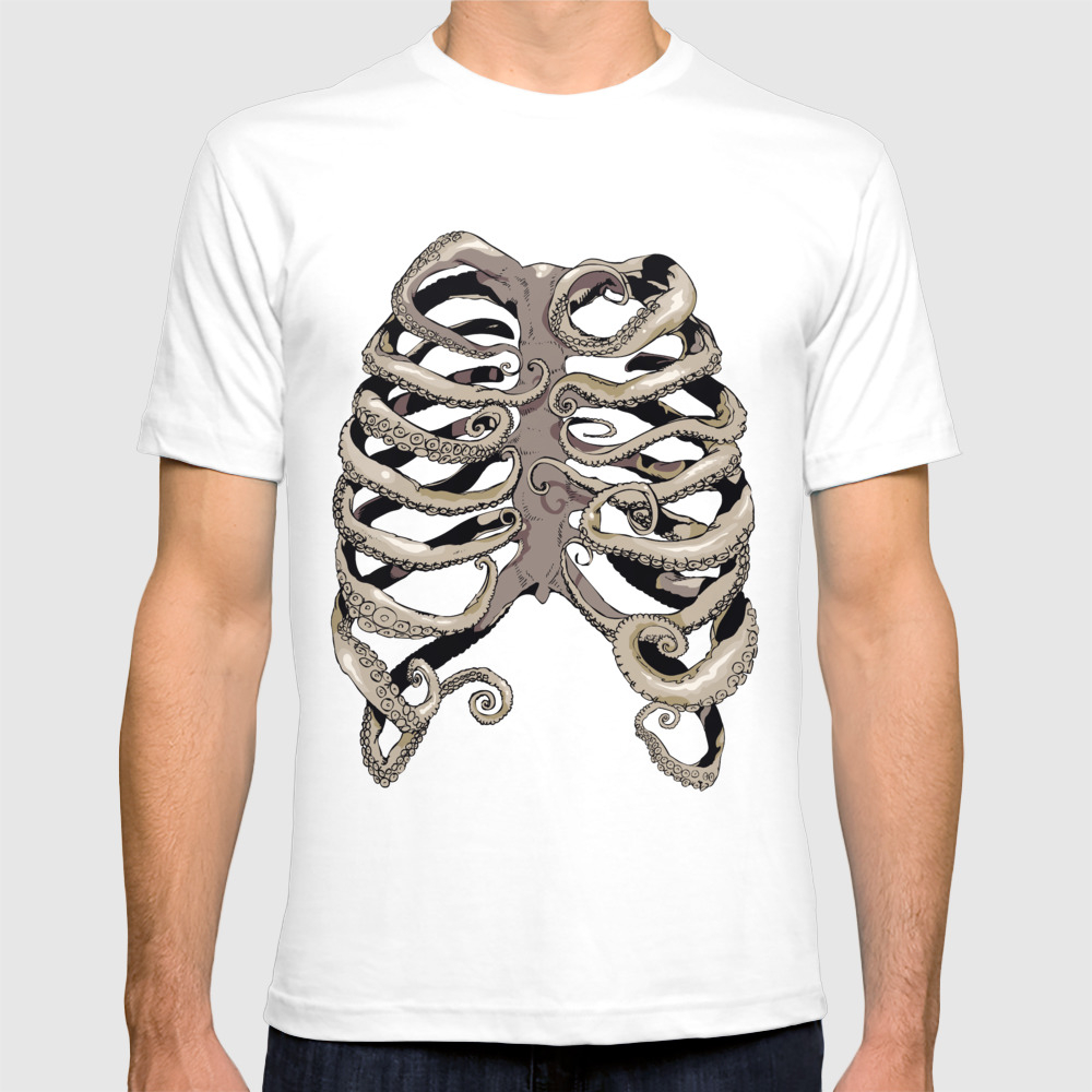 Your Rib Is An Octopus T-shirt by Huebucket TSR1821235
