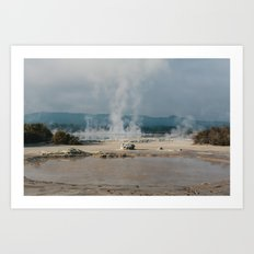 Rotorua Laughing Gas Pool Art Print
