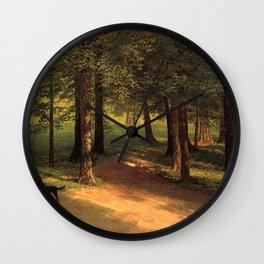 Albert Bierstadt - Irvington Woods Wall Clock