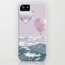 Surreal Journey In A Hot Air Ballon iPhone Case