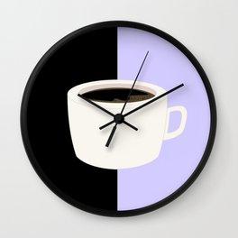 Lilac Coffee Wall Clock