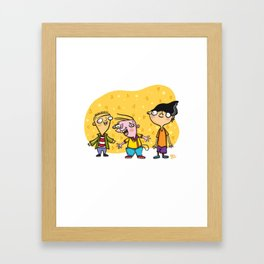 Ed, Edd, and Eddy Cool Kids of the 90's Framed Art Print