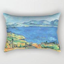 Paul Cézanne - Baie de Marseille, vue de l'Estaque -The Bay of Marseilles, Seen from L'Estaque Rectangular Pillow
