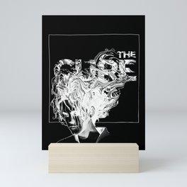 Robert Smith of The Cure [black] Mini Art Print