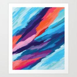 Colorful Brushstroke Digital Painting Art Print