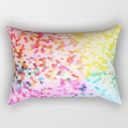 Rainbow Splatter Rectangular Pillow